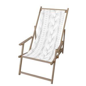 chaise longue transat blanc achat vente chaise longue transat blanc pas cher cdiscount. Black Bedroom Furniture Sets. Home Design Ideas
