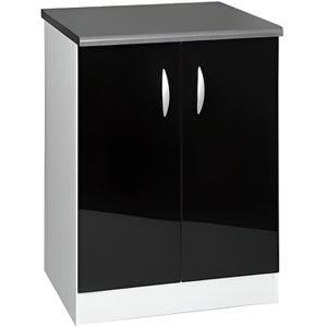 meuble cuisine laque noir achat vente meuble cuisine laque noir pas cher soldes cdiscount. Black Bedroom Furniture Sets. Home Design Ideas