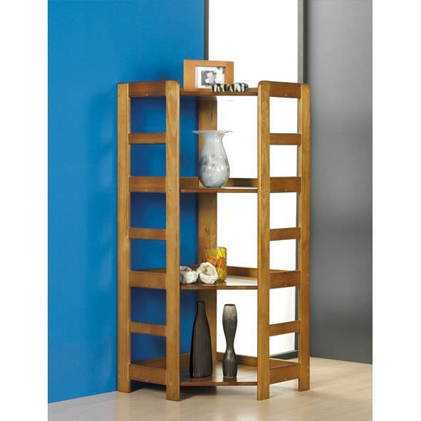 Etag re d 39 angle 3 tablettes achat vente meuble tag re for Meuble etagere d angle