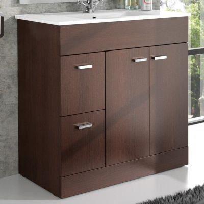 Meuble salle de bain et vasque porcelaine 80 cm achat vente ensemble meuble sdb meuble - Meuble vasque salle de bain 80 cm ...