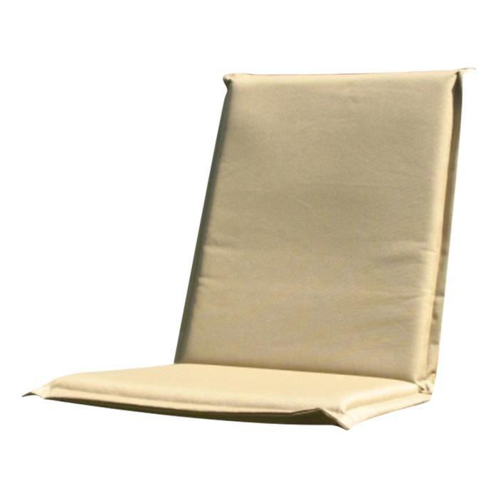 Coussin avec dossier pour chaise pliable beige achat - Coussin de chaise avec dossier ...