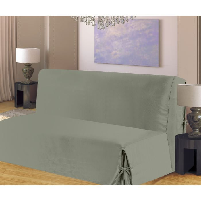 housse de clic clac nouettes en bachette gris achat vente housse de canap soldes d t. Black Bedroom Furniture Sets. Home Design Ideas