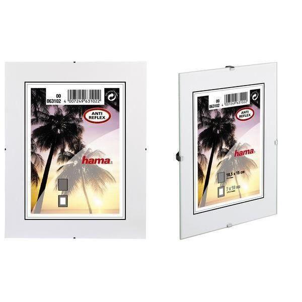 support photo sans cadre clip fix 30 x 45 cm achat vente porte photo verre cdiscount. Black Bedroom Furniture Sets. Home Design Ideas