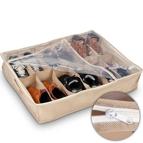 Bo te de rangement pour 6 paires de chaussures achat - Housse de rangement pour chaussures ...