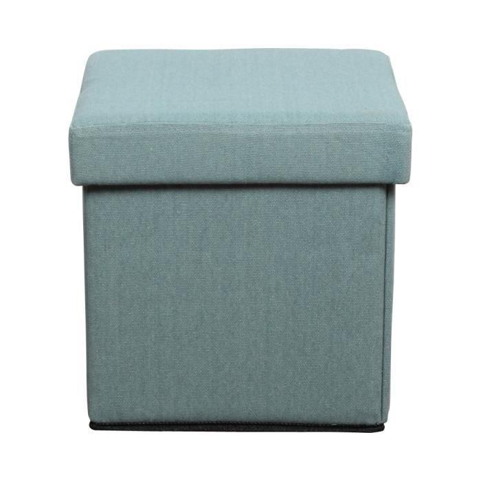 pouf pliant coffre bleu oc an achat vente pouf poire tissu 100 polyester lin. Black Bedroom Furniture Sets. Home Design Ideas