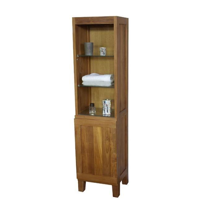 Colonne salle de bain en teck 160 cm tabago 40 st achat vente colonne - Colonne salle de bain largeur 50 cm ...