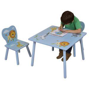 Table chaise enfant en bois achat vente table chaise for Table chaise bois enfant