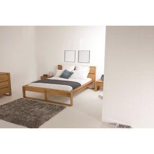 lit bois 140x190 achat vente lit bois 140x190 pas cher les soldes sur cdiscount cdiscount. Black Bedroom Furniture Sets. Home Design Ideas