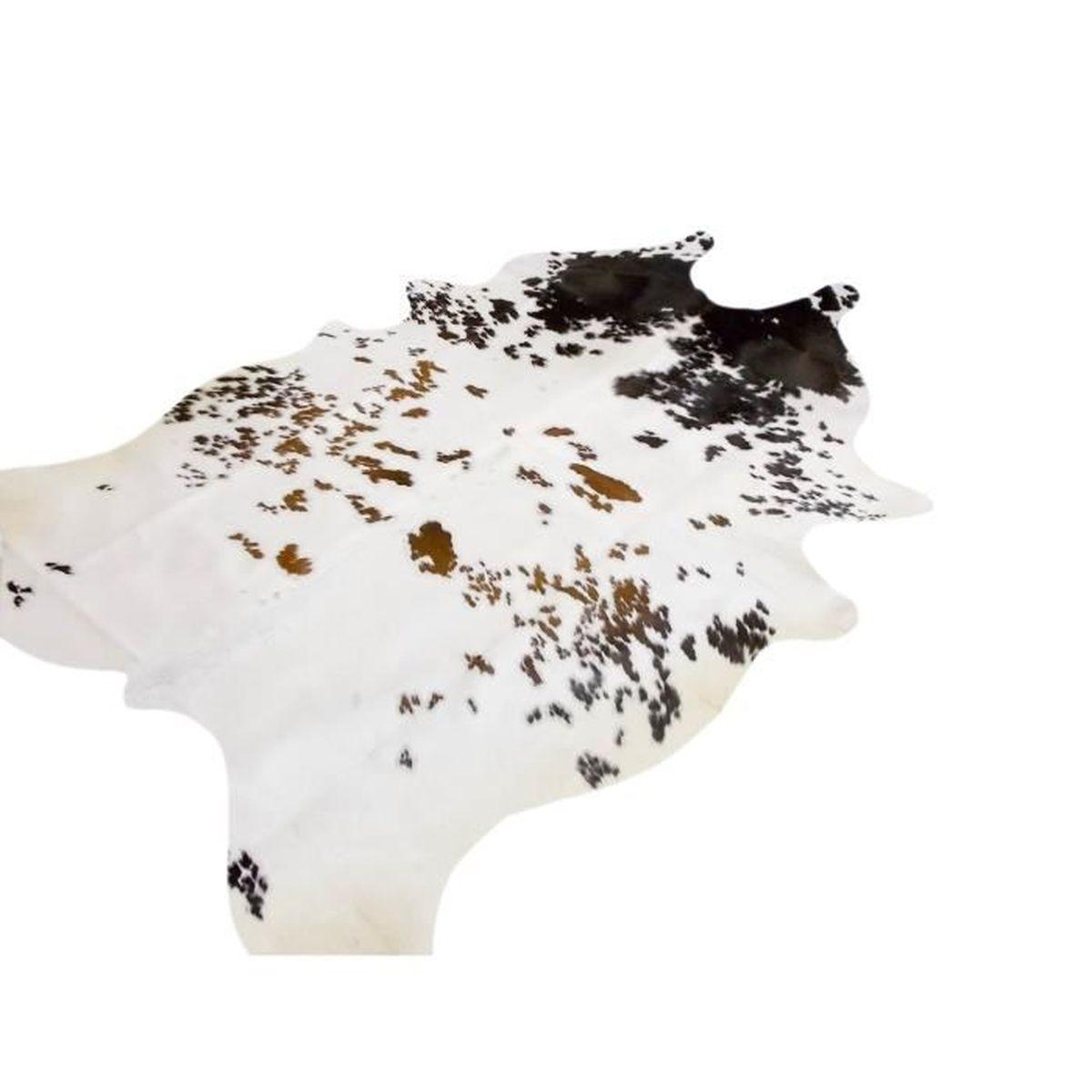 Peau de vache premium d 39 am rique du sud belle tricolore - Tapis peau de vache maison du monde ...