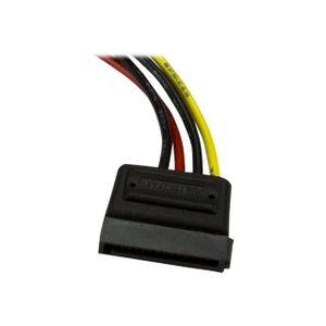 STARTECH Câble d'alimentation Molex vers SATA de 15 cm - Câble adaptateur LP4 vers SATA - M/F