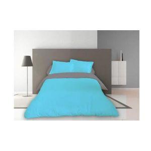 housse de couette 220x240 bleu achat vente housse de couette 220x240 bleu pas cher soldes. Black Bedroom Furniture Sets. Home Design Ideas