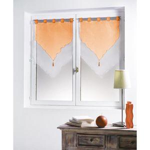rideaux voilage orange achat vente rideaux voilage orange pas cher cdiscount. Black Bedroom Furniture Sets. Home Design Ideas