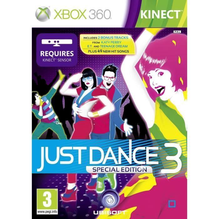 JEUX XBOX 360 JUST DANCE 3 KINECT + Bonus / Jeu console X360