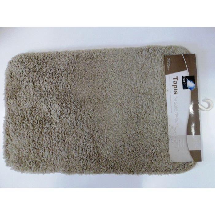 Tapis salle de bain microfibres pais 80x50cm gris achat - Tapis salle de bain gris ...
