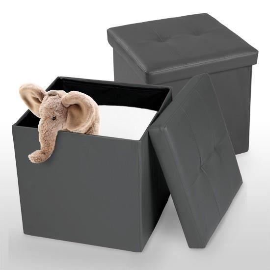 2 x tabouret pliant pouf repose pied banquette achat vente pouf poire cdiscount. Black Bedroom Furniture Sets. Home Design Ideas