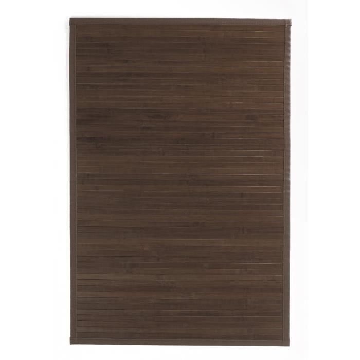 lot 2 tapis de bain bambou brun fonc 45 x 75 cm achat vente tapis bain soldes d t. Black Bedroom Furniture Sets. Home Design Ideas