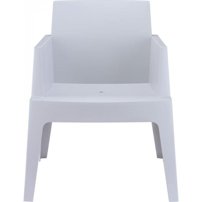 cubik gris chaise de jardin design en plastique achat. Black Bedroom Furniture Sets. Home Design Ideas