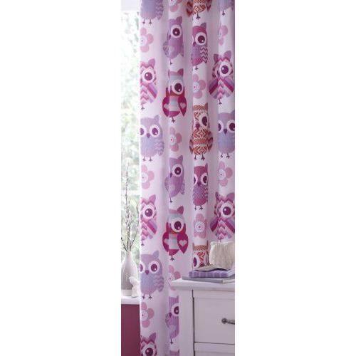 catherine lansfield rideaux de chambre motif chouettes brod es 168 x 183 cm achat vente. Black Bedroom Furniture Sets. Home Design Ideas