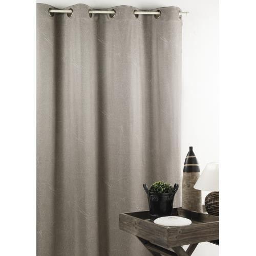 Rideau cuir gris for Accessoires decoratifs maison