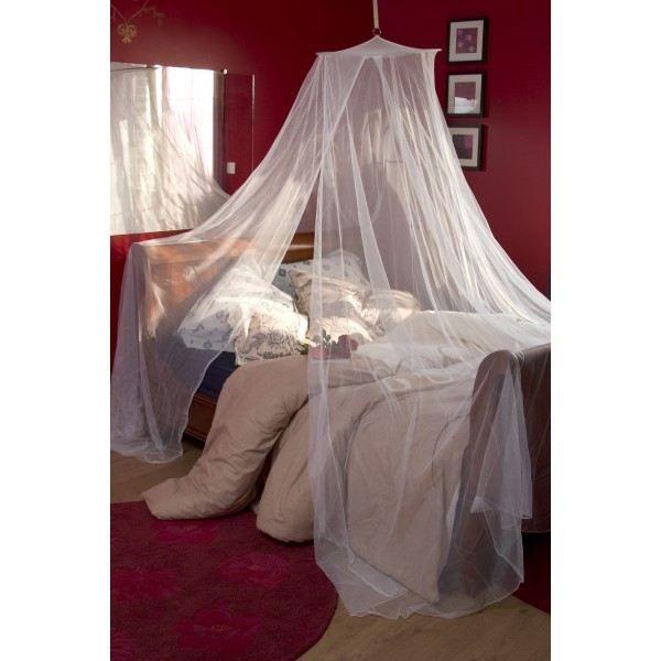 Moustiquaire lit 1 personne h220x 85 blanc achat vente moustiquaire ouverture cdiscount - Rideau ciel de lit ...