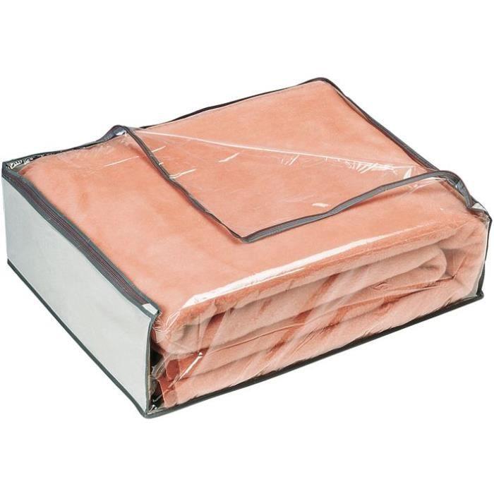 Housse pour couverture 65x55x20 cm gris achat for Housse couverture