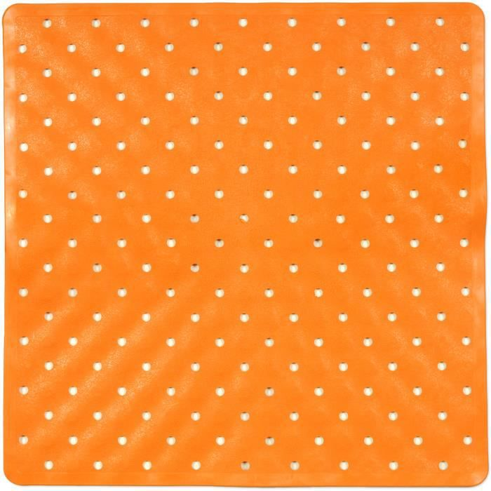 tapis de bain fond de douche orange achat vente tapis de bain cdiscount. Black Bedroom Furniture Sets. Home Design Ideas