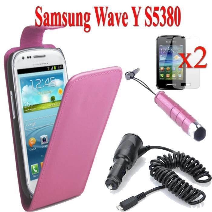 Samsung wave y s5380 lot etui chargeur voiture achat for Housse samsung wave 2
