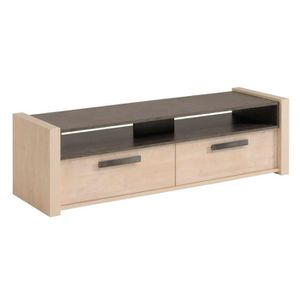 meuble tele effet beton achat vente meuble tele effet beton pas cher cdiscount. Black Bedroom Furniture Sets. Home Design Ideas