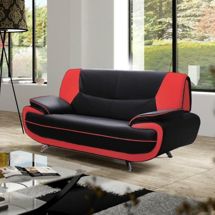 Canape rouge et noir achat vente canape rouge et noir - Canape rouge pas cher ...