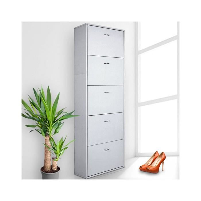 meuble chaussures white achat vente meuble chaussures meuble chaussures white cdiscount. Black Bedroom Furniture Sets. Home Design Ideas