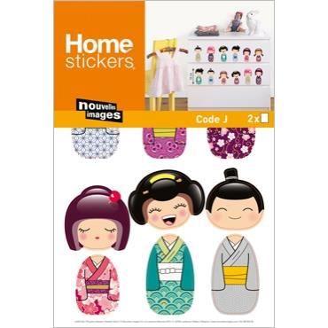 Stickers meubles ou muraux enfant poupees kokesh achat - Ou trouver stickers muraux ...