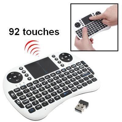 mini clavier sans fil 2 4ghz avec souris touchpad achat clavier pour t l phone pas cher avis. Black Bedroom Furniture Sets. Home Design Ideas