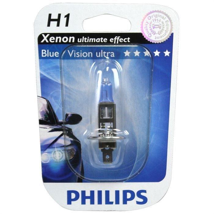 ampoule philips bluevision ultra h1 12v 55w achat vente ampoule tableau bord ampoule philips. Black Bedroom Furniture Sets. Home Design Ideas