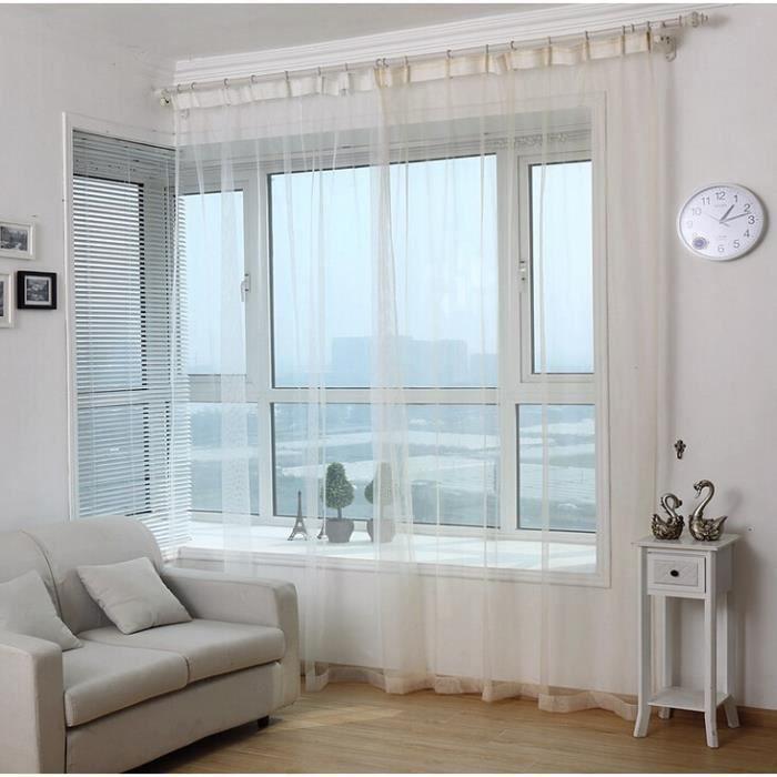 tulle rideau de la fen tre rideaux blancs pour chambre largeur de 1 5 m par 2 8 m une couleur. Black Bedroom Furniture Sets. Home Design Ideas