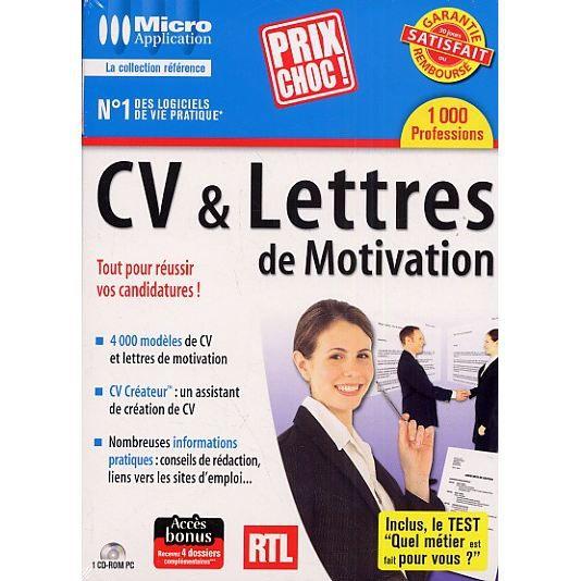 cv  u0026 lettres de motivation - achat    vente logiciel bureautique cv  u0026 lettres de motivation