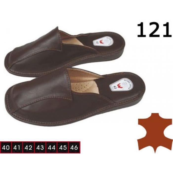 chaussons des pantoufles en cuir pour hommes achat vente chausson pantoufle 2009887444332. Black Bedroom Furniture Sets. Home Design Ideas