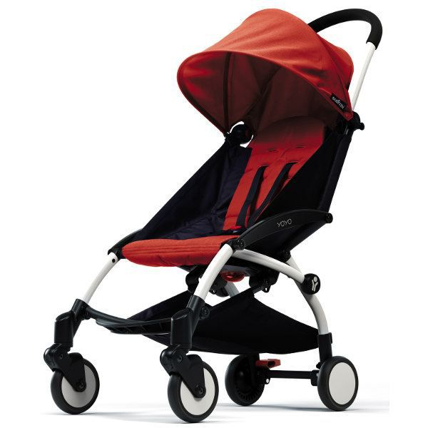 Poussette yoyo ch ssis blanc rouge achat vente for Bebe 3 meses silla paseo