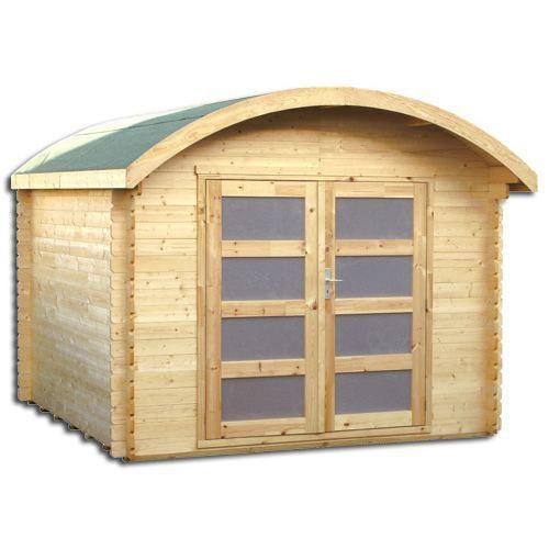 abri de jardin en bois massif 28 mm 8 88 m achat vente abri jardin chalet abris en bois. Black Bedroom Furniture Sets. Home Design Ideas
