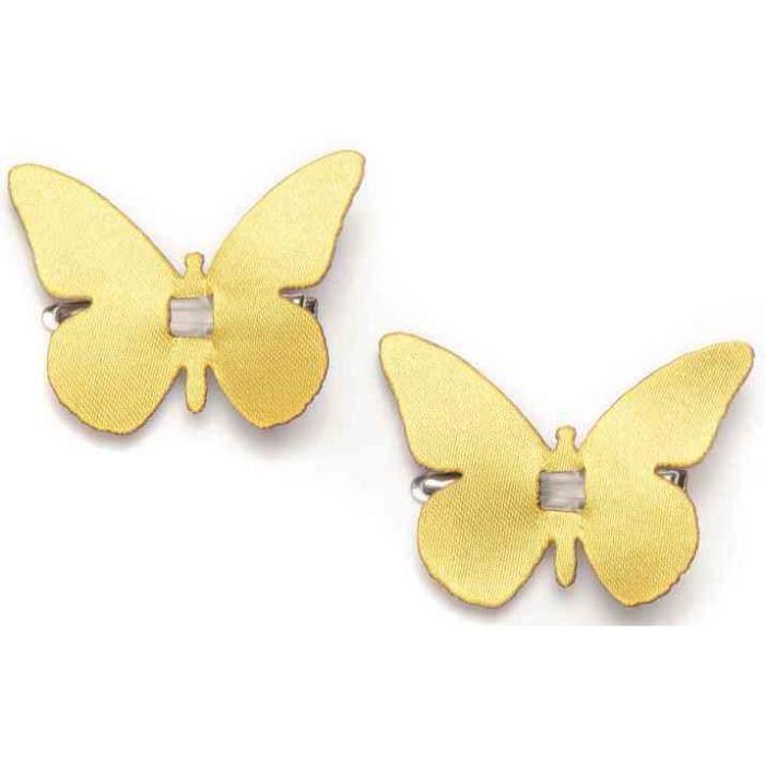 clip papillon jaune achat vente objet d coratif clip. Black Bedroom Furniture Sets. Home Design Ideas