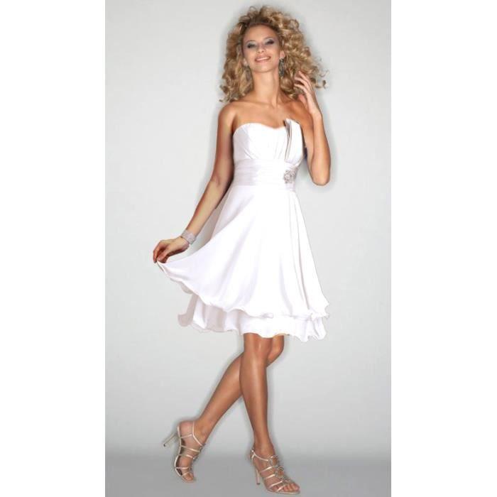 Top robes blog acheter robe de soiree blanche for Robe de cocktail de mariage blanche