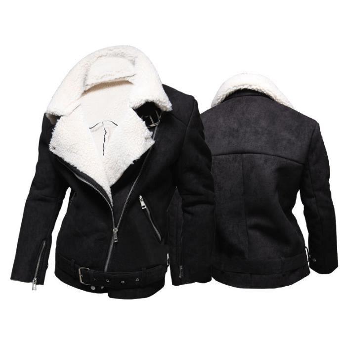 blouson homme agneaux veste de laine homme bomber jacket noir achat vente blouson cdiscount. Black Bedroom Furniture Sets. Home Design Ideas