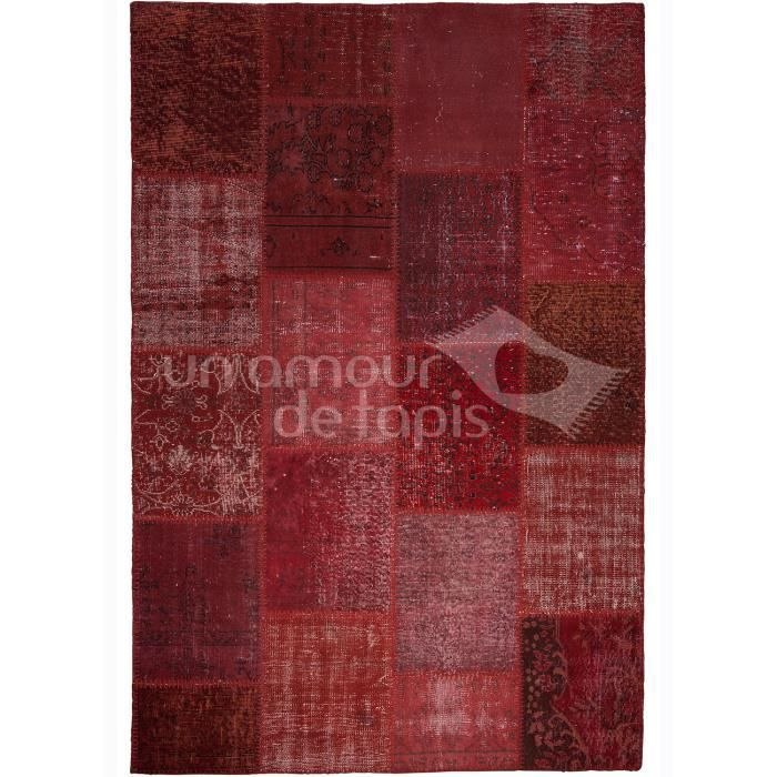 tapis de haute qualit kilim class patchwork rouge 120x170 tapis naturel achat vente tapis. Black Bedroom Furniture Sets. Home Design Ideas