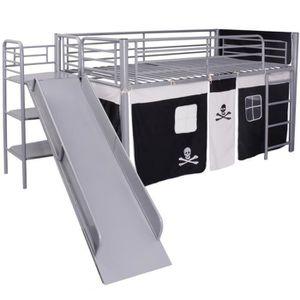 Lit avec escalier achat vente lit avec escalier pas cher cdiscount - Lit superpose avec escalier ...