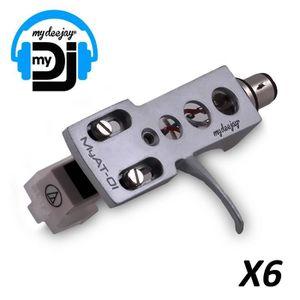 """PIECE PLATINE Porte cellule MYAT-01 Silver x6 avec diamant """"Audi"""