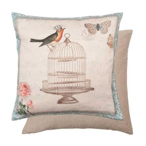 Coussin campagne achat vente coussin campagne pas cher for Cage a oiseau deco