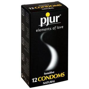 ACCESSOIRES SENSUELS PJUR - sensibles 12 préservatifs pour Safe Sex