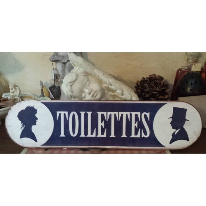 Grande plaque toiletteshomme femme style vintagetres for Plaque de porte decorative