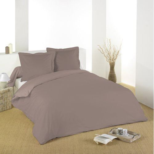 housse de couette 260x240cm gamme alicia taupe achat. Black Bedroom Furniture Sets. Home Design Ideas