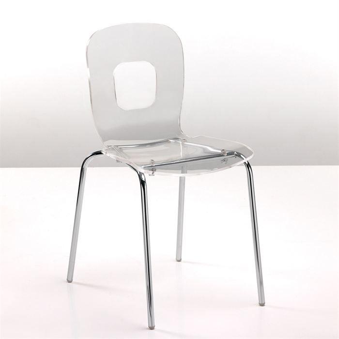 Chaise sun en acier transparent achat vente chaise mati re de la structure m tal mati re for Chaise en acier poitiers