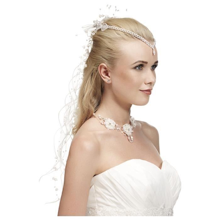 bijoux pour cheveux avec cha ne en perles bla achat vente barrette chouchou bijoux pour. Black Bedroom Furniture Sets. Home Design Ideas
